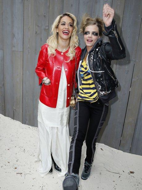 Rita Ora and Cara Delevingne Paris fashion week