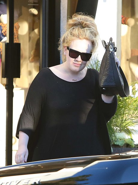 Adele goes baby shopping in West Hollywood
