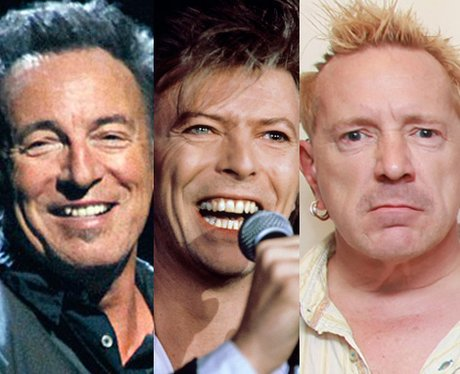 Bruce Springsteen, David Bowie and John Lydon