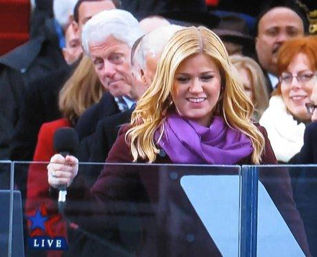 Bill Clinton and Kelly Clarkson at Obama's Inagura
