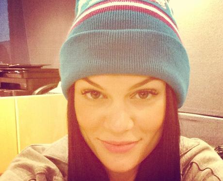 Jessie J wearing a beanie