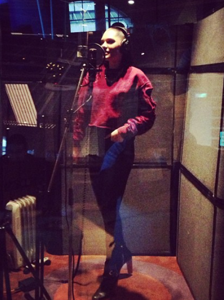 Jessie j in the recording studio