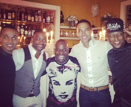 JLS pose for a family birthday