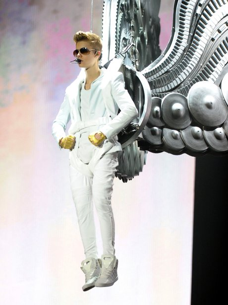 Justin Bieber performs on tour