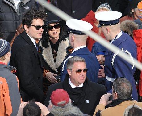 Katy Perry and John Mayer hugging at the Inauguration