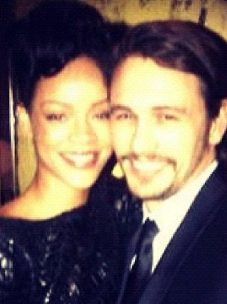 Rihanna meets Milk star James Franco
