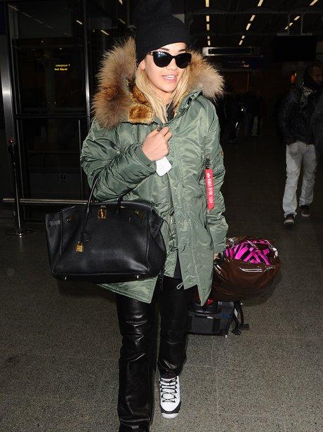 Rita Ora arrives home from Paris