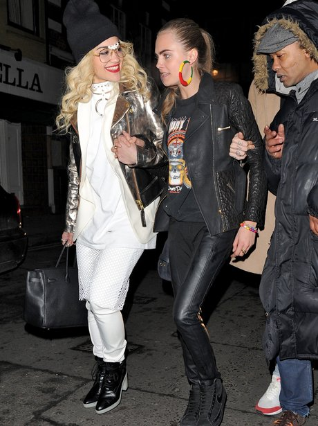 Rita Ora and Cara Delevingne in London