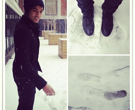 Siva from The Wanted in the snow