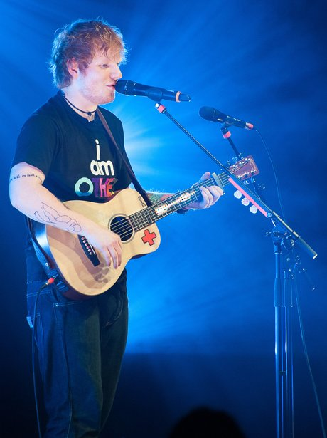 Ed Sheeran plays a concert in New York City