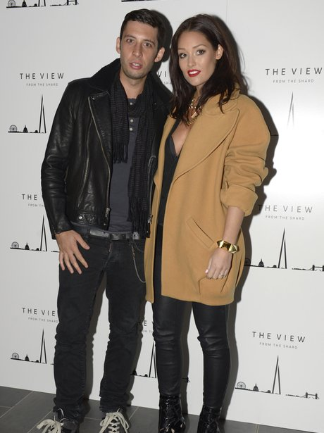 Example and Erin McNaught on a red carpet together