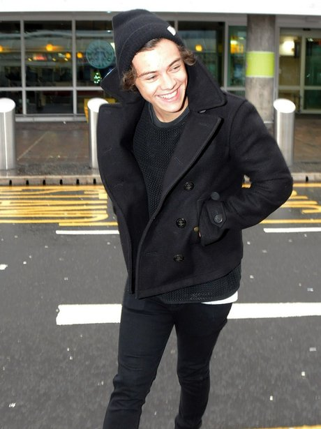 Harry Styles at Glasgow airport
