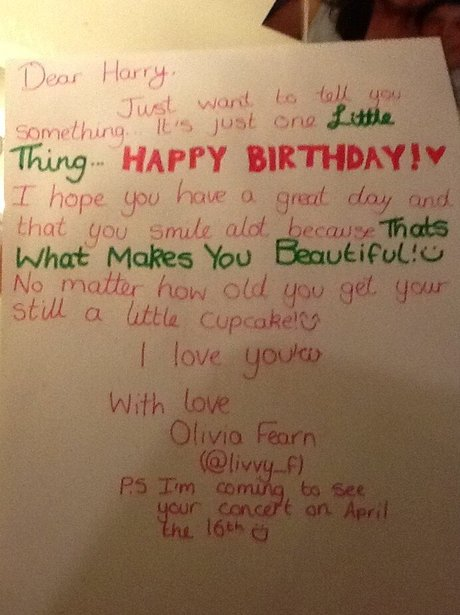 From Livvyf One Directions Harry Styles 19th Birthday Card
