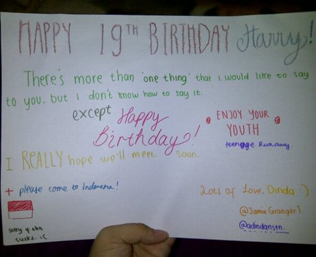 From Jamiegranger1 One Directions Harry Styles 19th Birthday