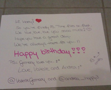 From andreahappy3 One Directions Harry Styles 19th Birthday