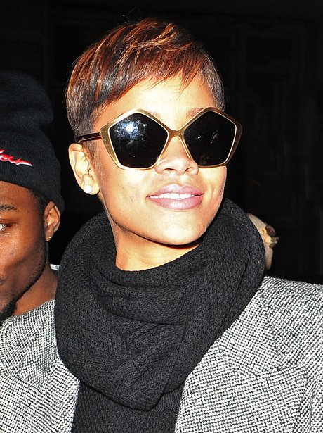 Rihanna wears pentagon shades in New York City