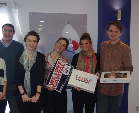 Win Your workplace Krispy Kremes