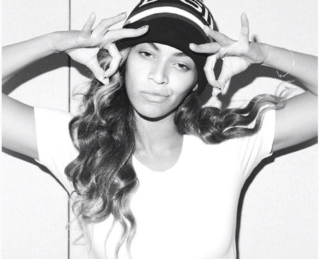 Beyonce poses for fans on Instagram