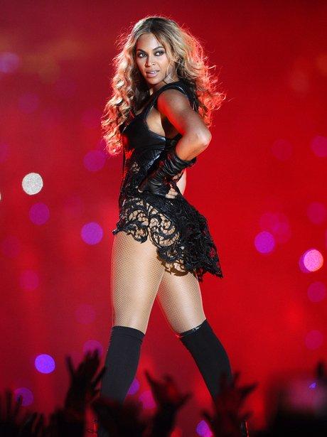Beyonce performing at the Super Bowl 2013