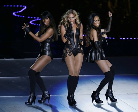beyonce with destiny's child at super bowl