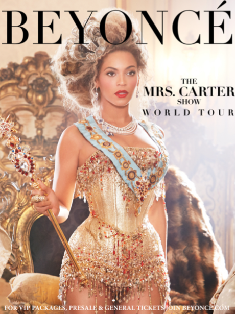 Beyonce's new world tour poster