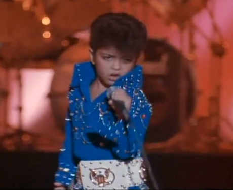 Bruno Mars dressed up as Elvis