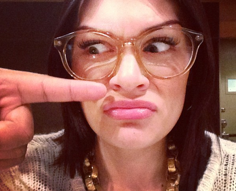 Jessie J wearing glasses