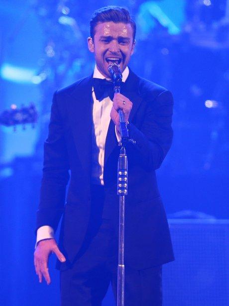 Justin Timberlake at DIRECTV Super Saturday Event