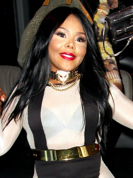 Lil Kim out in West Hollywood filming a music video