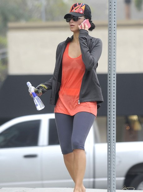 Nicole Scherzinger fresh from a workout in Hollywood