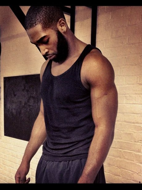 Tinie Tempah shows off his hard work in the gym