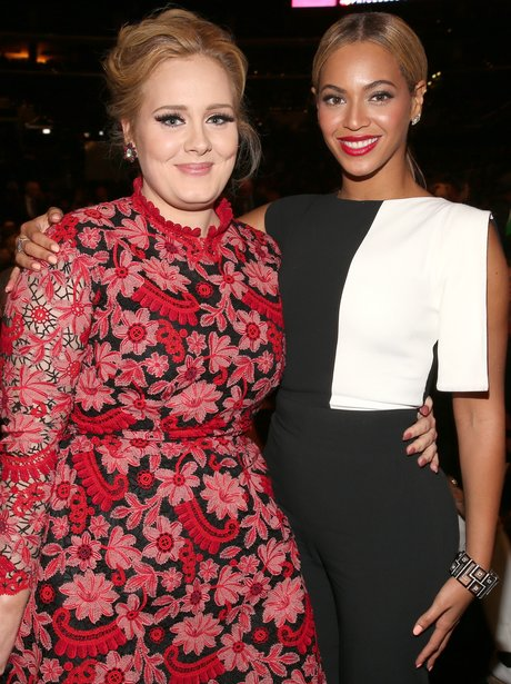 Adele and Beyonce at the Grammy Awards 2013