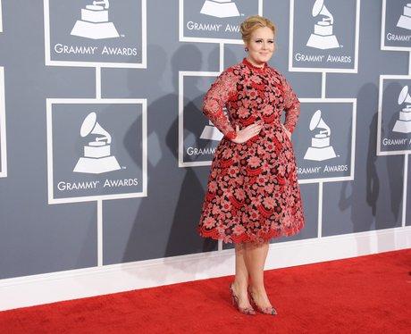 Adele arrives at the Grammy Awards 2013