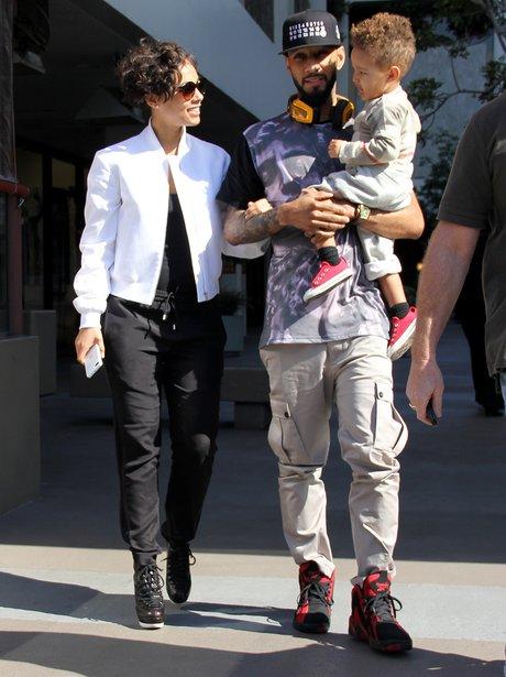 Alicia Keys and Swizz Beatz enjoy trip out with their son