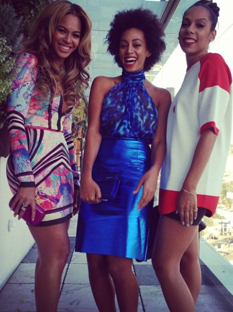 Beyonce with her sister Solange Knowles