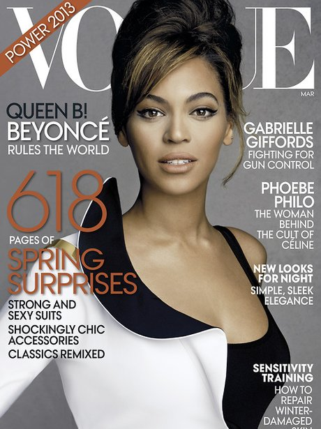 Beyonce covers the new issue of Vogue US