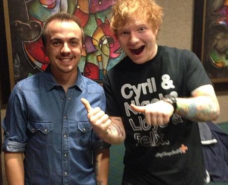 Ed Sheeran gets to meet Frankie Muniz