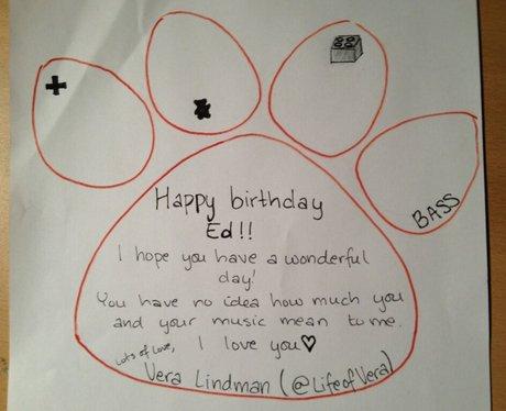 Lifeofvera Ed Sheerans 22nd Birthday Card Capital