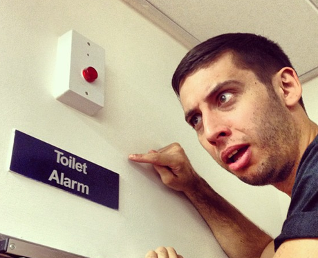 Example shares a silly pictures with fans