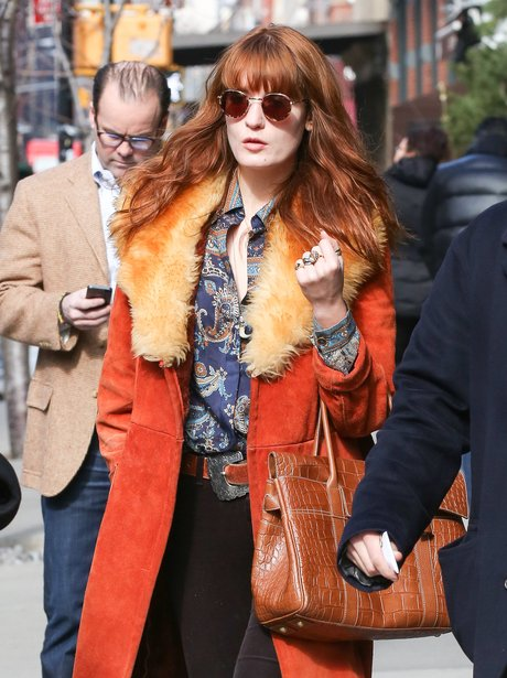 Florence Welch wearing no make-up in New York