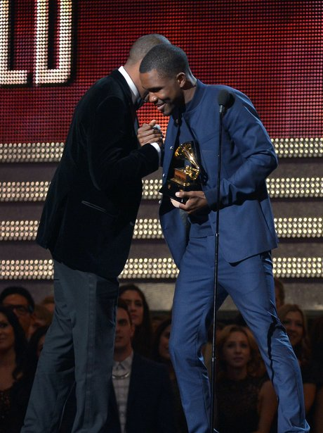 Jay-Z and Frank Ocean at the 2013 Grammy Awards