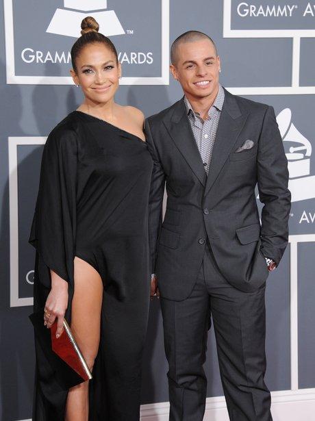 Jennifer Lopez and Casper Smart arrive at the Gram