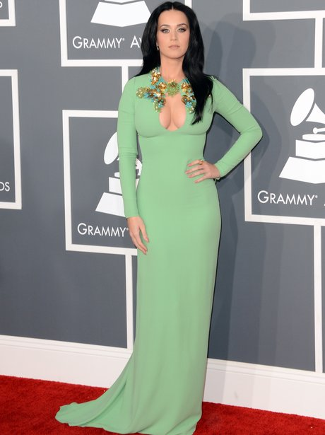 Katy Perry arrives at the Grammy Awards 2013