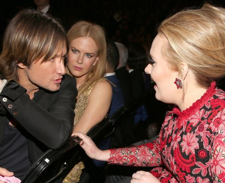 Keith Urban and Adele at the Grammy Awards 2013
