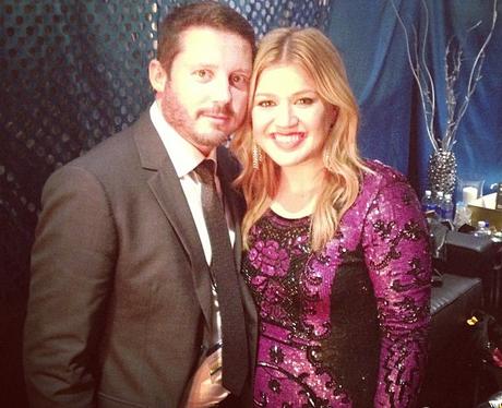 Kelly Clarkson with her fiance Brandon Blackstock