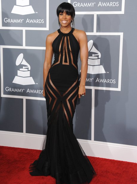 Kelly Rowland arrives at the Grammy Awards 2013