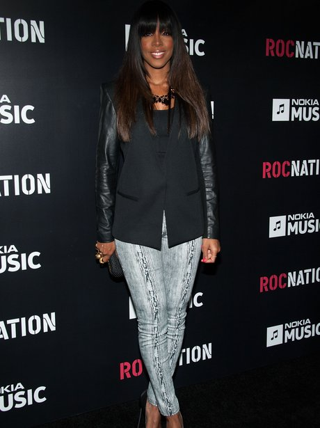 kelly rowland at roc nation pre grammys