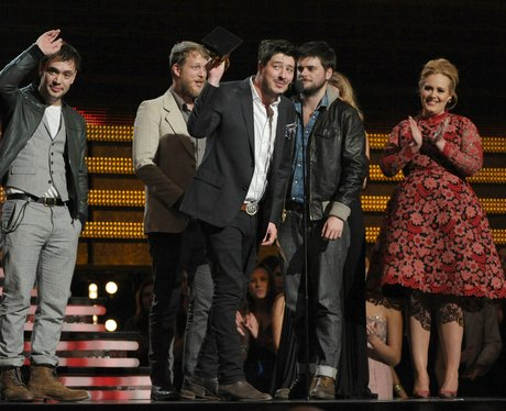 Mumford and Sons at the 2013 Grammy Awards