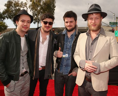 Mumford and Sons on the red carpet in 2013