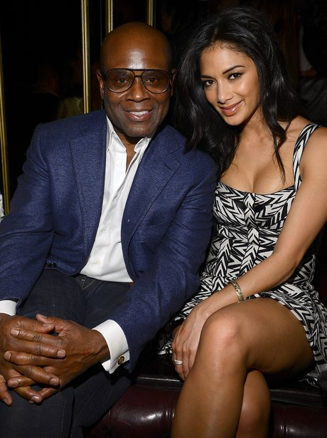 Nicole Scherzinger and LA Reid at a pre-party for the Grammy Awards 2013